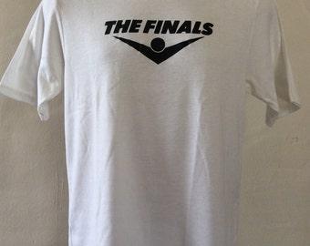 Vtg 80s The Finals Brand T-Shirt White M/L Soft 50/50