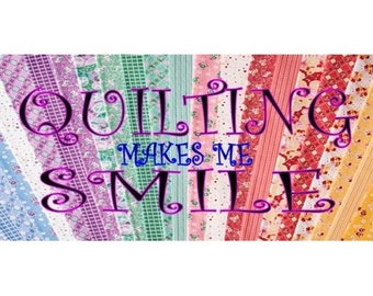 Quilting Makes Me Smile Photo License Plate - LPO1754