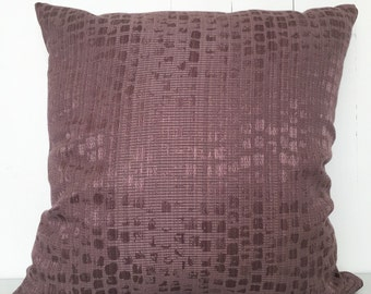 Purple shimmer cushion cover