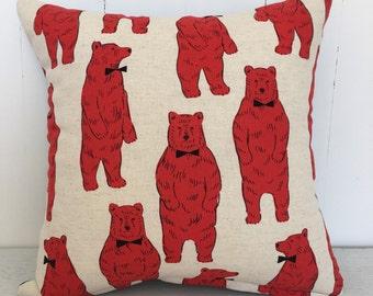 Beary nice kids cushion cover