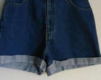 Cool High Waisted Blue Jean Shorts Sz 13/14