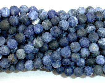 Matte Sodalite Beads, 6mm (6.5 mm) Round Beads, 15.5 Inch, Full strand, Approx 62 beads, Hole 1 mm, A quality (411054015)