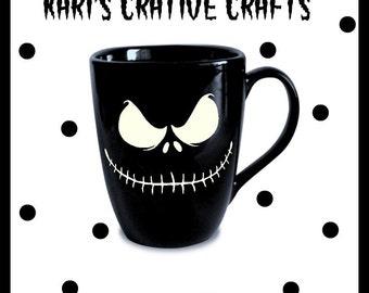Jack Skellington Coffee Mug, The Nightmare Before Christmas Mug, Skull Coffee Mug