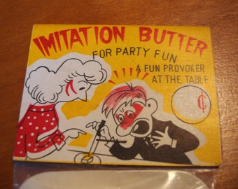 Vintage Gag Gift, UNOPENED, Fake Butter, Mid Century