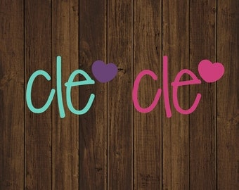 Initials with Heart Decal - Monogram With Heart Decal - Custom Monogram Decal - Heart Monogram - Heart Initials - Heart Initials Decal