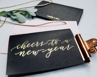New Years Greeting Card A6