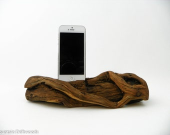 Docking station, iPhone 6+ Dock, iPhone 5, 6 and 6+ Docking Station made from Aged Manzanita Wood