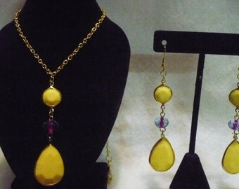 California dreamin' earring and necklace set (A6)