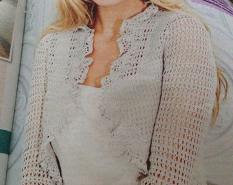 Ladies Crochet Bolero Pattern