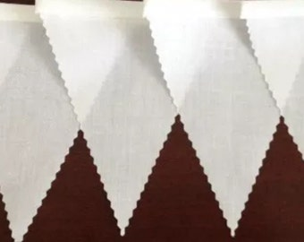 "Wedding Bunting Handmade High Quality  ""English White Cotton"""