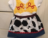 Jessie from Toy Story- inspired Onesie for newborn to 12 months