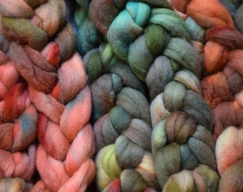 Handpainted roving   MINERAL   100g   Polwarth