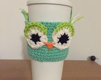 Travel mug owl cozy
