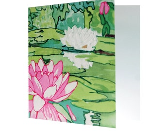 Water Lillies Greetings Card