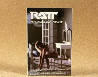 RATT - Invasion Of Your Privacy Cassette Tape - US Recording - 1985 Atlantic Records - Vintage Music - Near Mint Condition