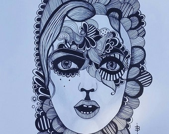 Detailed Woman Drawing