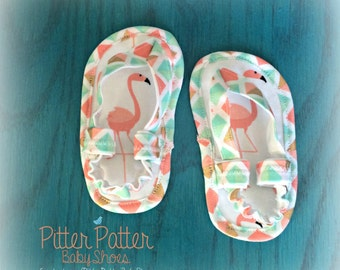 Pink Flamingo Baby Sandals - Infant Sandals - Baby Shoes - Baby Sandals -Pink Flamingo - Baby Girl Gifts -Flamingo Baby Gift - Baby Showerer