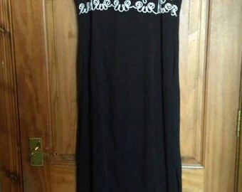Vintage Black Formal Dress