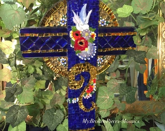 Heaven Sent Mosaic Cross
