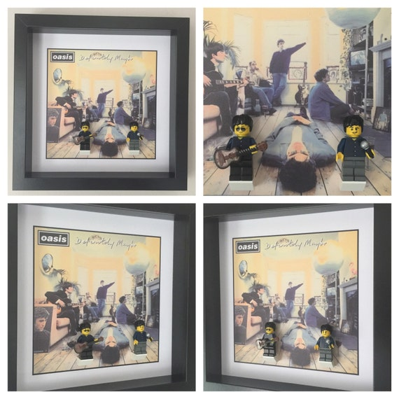 Oasis Minifigure Frame, Mum, Gift, Geek, Box Frame, Friends, Kids, Music, Idea, Birthday, For Her, For Him, Lego, Framed, Frames, Pop
