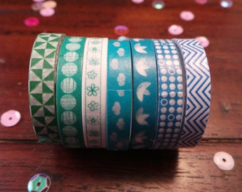 Washi tape - set of 7 - several varieties