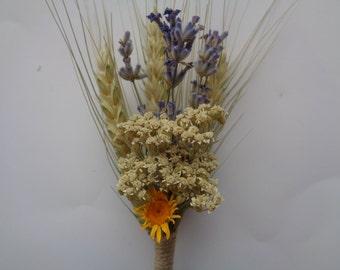 Rustic wedding boutonniere,Set of 6, Men's buttonhole, Groom lapel pin, Groomsmen corsage, Wheat wedding boutonnieres ,wheat buttonholes