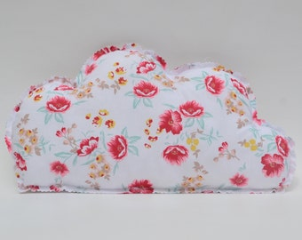 Cushion cotton red and white cloud