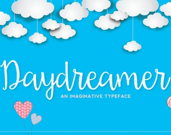 DAYDREAMER Script Hand drawn Font Download - Personal or Commercial