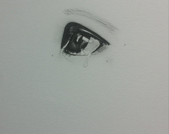 illustration sad eye