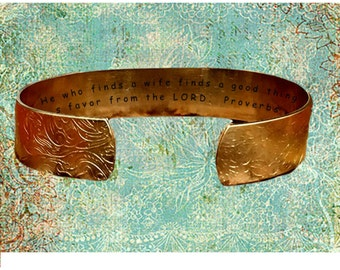 """Proverbs 18:22 He who finds a wife finds a good thing And... 