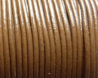 40 meters caramel colored leather cord 1.5 mm PR0500