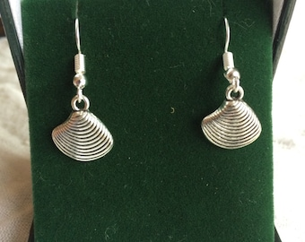 Quahog Seashell Earrings