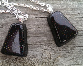 Colorful Dots and Black Resin