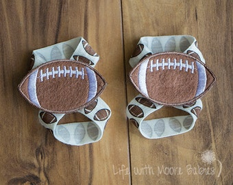 Baby Barefoot Sandal Football Patches, Interchangeable Barefoot Baby Sandals with Football Patches, Football Barefoot Shoe for Babies, Gift