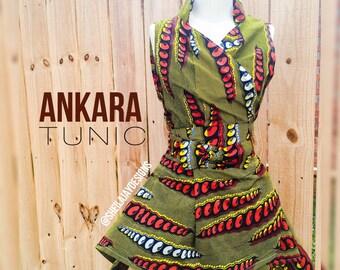 Sheila Jay Designs Wrap Tunic Afican Print