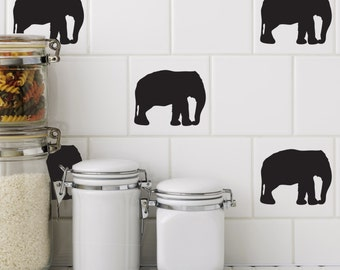 Pack of 12 Elephant Tile Stickers