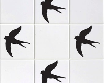 Pack of 15 Swallow Tile Stickers
