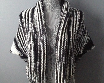 Black, White & Grey Shawl
