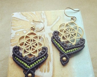 seed of life earings · the power of sacred geometry