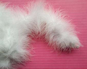 White Marabou Boa - Craft Boa - Craft Supplies - White Boa