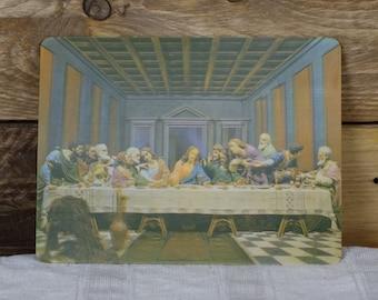 Vintage 3D Post Card - Three Dimensions Postcard - Jesus Card - The Last Supper - Visual Panographics