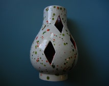 Speckled Ceramic Chimney Lamp Topper ~ F. T. Haffner
