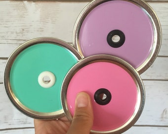 Wide Mouth Mason Jar Lid With Hole And Vinyl Color //Mason Jar Lid And Grommet // Lid for DIY Tumblers