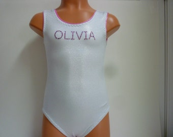 Leotard for Gymnastics or Dance - Personalized - Sizes 2T, 3T, Girls 4 to 10