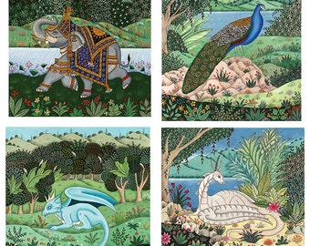 Your choice of 4 fine art greeting cards.