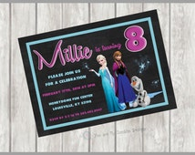 Frozen Printable, Frozen Printable Invitation, Frozen Party Invite, Frozen, Anna Invite, Elsa Invite, Anna Invitation, Elsa Invitation