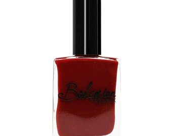 Feeding Frenzy Deep Blood Red Polish - Non toxic - 5 Free - Vegan Friendly - Cruelty Free - Made in the USA