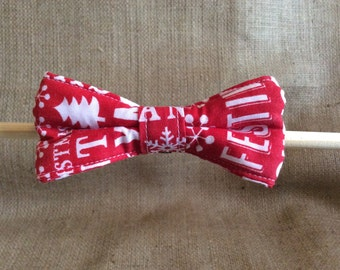 Christmas Red Festive Dog Bow Tie