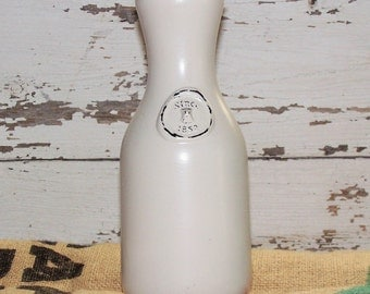 Distressed Milk Bottle