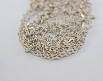 1.8x3 mm White chain link, brass chains,  loose chain, gold chain, - Tiny Metal Chains - Soldered Chain - Necklace Findings